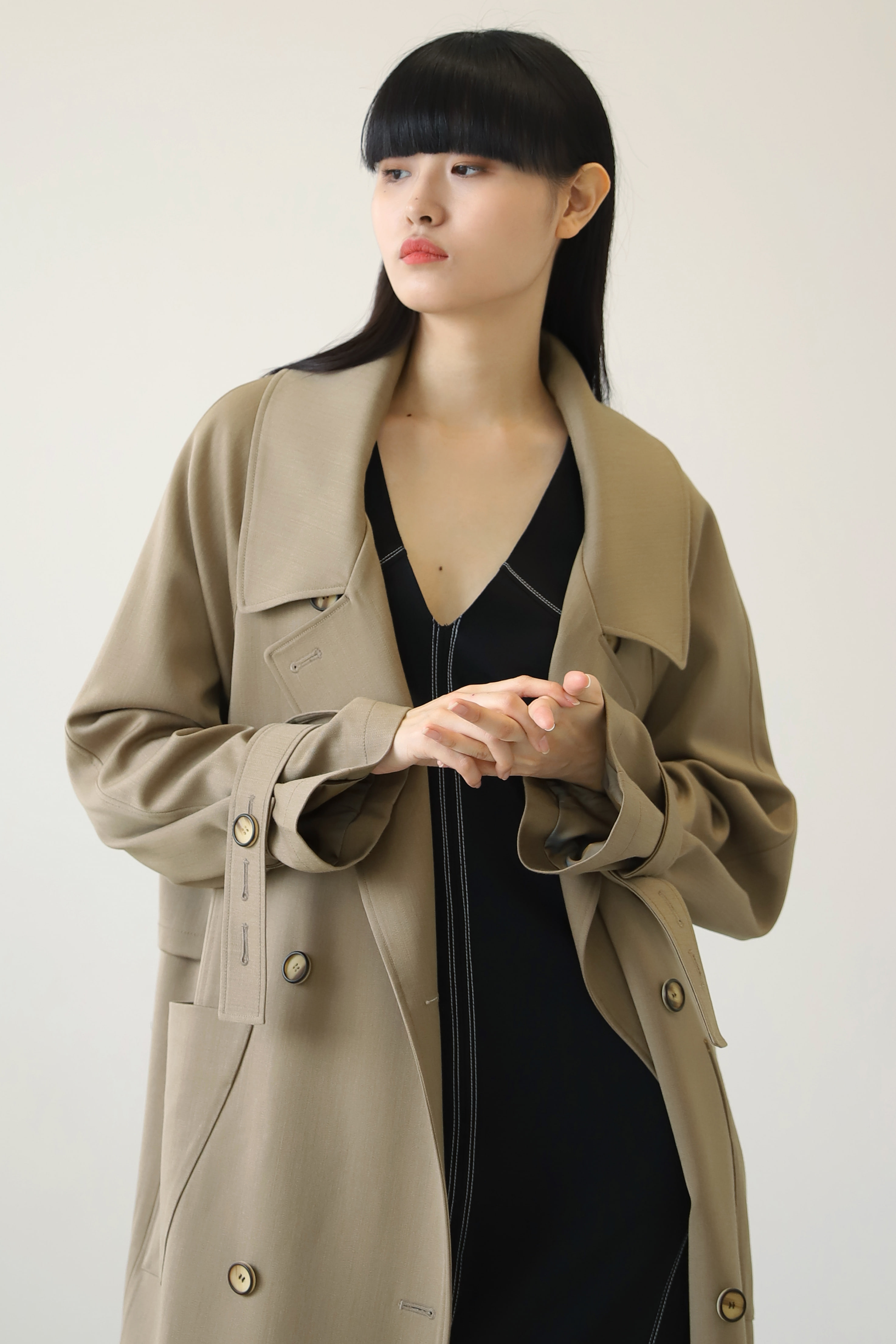 OVER LONG TRENCH COAT_Cashmere Beige / Out of Stock